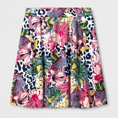 Say What? Girls' Cheetah Floral Skirt by Say What?