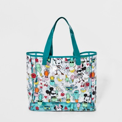 Women's Mickey Mouse & Friends Sandproof Tote Handbag -Disney™ Turquoise