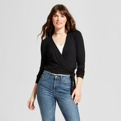 Women's Long Sleeve Wrap Front T-Shirt - Mossimo Supply Co.™