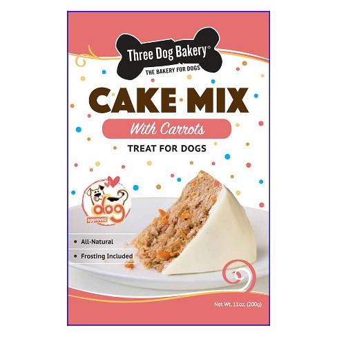 Three Dog Bakery Cake Mix with Carrots Dog Treats Target