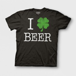 Men's Short Sleeve St Patricks Day Graphic T-Shirt - Black