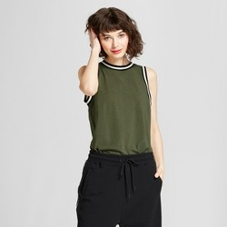 Hunter for Target Women's Contrast Trim Knit Tank Top - Olive