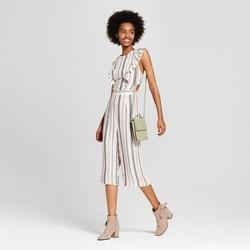 Women's Striped Sleeveless Ruffle Jumpsuit - Xhilaration™