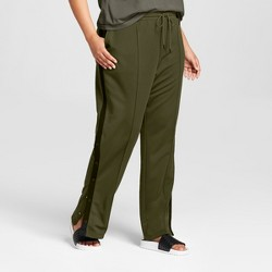 Hunter for Target Women's Plus Size Tapered Side Snap Track Pants - Olive