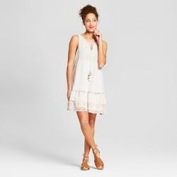 Women's Sleeveless Shift Dress with Tassels - Xhilaration™ Off White