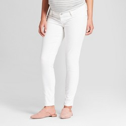 Maternity Inset Panel Skinny Jeans - Isabel Maternity by Ingrid & Isabel™ Whtie