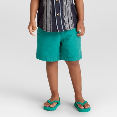 Toddler Boys' Genuine® Kids from OshKosh Chino Shorts with Belt - Teal 12M