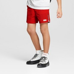 Hunter for Target Boys' Swim Shorts with Side Zips - Red