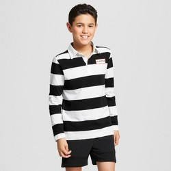 Hunter for Target Boys' Long Sleeve Rugby Polo Shirt - White