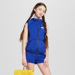 Hunter for Target Girls' Hooded Windbreaker Vest - Blue