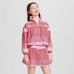 Hunter for Target Girls' Striped Performance Jacket - Pink