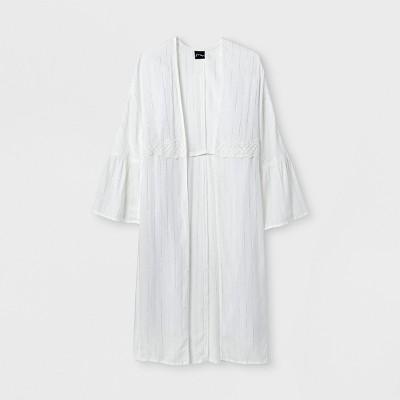 Girls' Long Sleeve Kimono   Art Class™ White by Art Class™