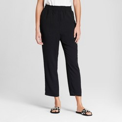 Women's Crepe Paperbag Jogger Pants - A New Day™