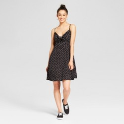 Women's Polka Dot Tie Front Dress - Mossimo Supply Co.™ Black