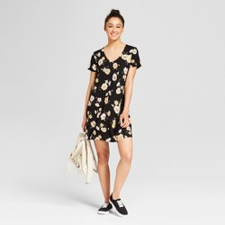 Women's Floral Print T-Shirt Dress - Mossimo Supply Co.™ Black