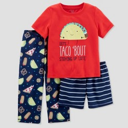 Baby Boys' 3pc Taco Bout Staying Up Pajama Set - Just One You™ Made by Carter's® Red