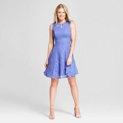 Women's Lace Cut-Out Dress - Melonie T - Blue