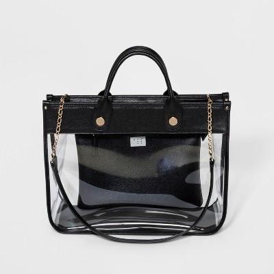 Clear Tote Handbag - A New Day™ Black
