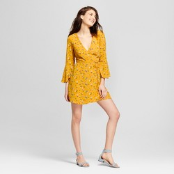 Women's Floral Print Wrap Dress - Lots of Love by Speechless (Juniors') Yellow