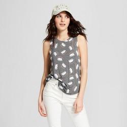 Women's Cali Bear Scoop Neck Graphic Tank Top - Grayson Threads (Juniors') Gray