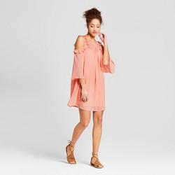 Women's Cold Shoulder Ruffle Dress - 3Hearts (Juniors') Pink