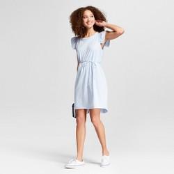 Women's Ruffle Sleeve Tie Waist Dress - A New Day™