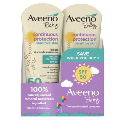 Aveeno Baby Continuous Protection Sensitive Lotion - SPF 50 - 3oz