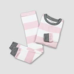Burt's Bees Toddler Girls' Rugby Stripe Pajama Set - Blossom