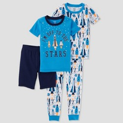 Toddler Boys' 4pc Space Shuttle Pajama Set - Just One You® made by carter's Blue