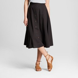 Women's Midi Skirt - Universal Thread™ Black