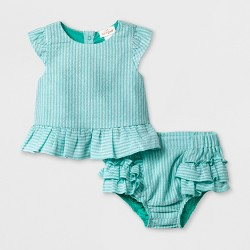 Baby Girls' Woven Top and Bottom Set - Cat & Jack™ Green