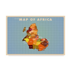 "American Flat Upside Down Africa Unframed Wall 30""x47"" - Trademark Fine Art"