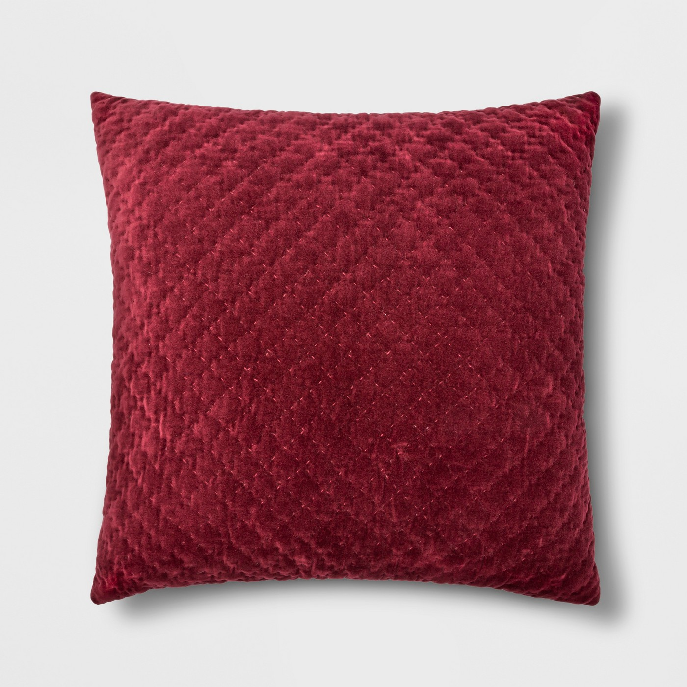 Hand Quilted Velvet With Zipper Closure Oversize Square Throw Pillow - Threshold™ - image 1 of 2
