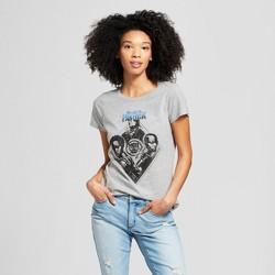 Women's Marvel Black Panther Short Sleeve Diamond Theme Graphic T-Shirt (Juniors') Heather Gray