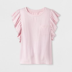 Girls' Ruffle Sleeve T-Shirt - art class™