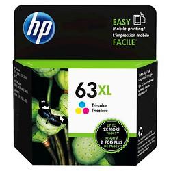 HP 63 Single & 2pk Ink Cartridges - Black, Tri-color