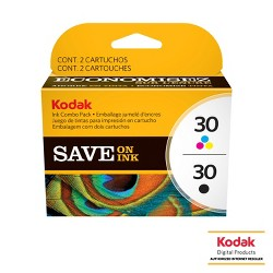 Kodak 30 Single & 2pk Ink Cartridges - Black, Tri-color