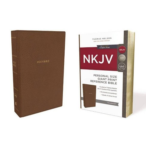 Holy Bible : New King James Version, Tan, Reference Bible, Personal Size, Imitation Leather, Red Letter - image 1 of 1