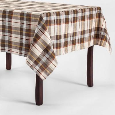Plaid Tablecloth Brown/Cream   Threshold™