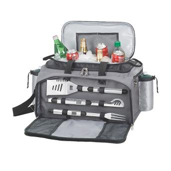 Picnic Time Vulcan - Propane Picnic Time Grill /Cooler/ 3 Pc Tools