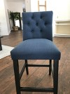 Brookline Tufted 25 Quot Counter Stool Chestnut Wood Finish