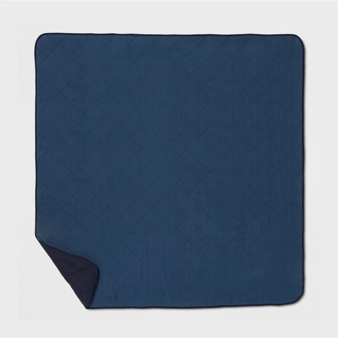 Blue Solid Picnic Blanket - Threshold™