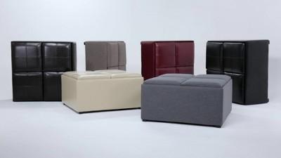 Franklin Square Coffee Table Storage Ottoman - WyndenHall : Target
