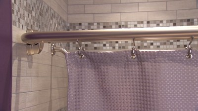 Home NeverRust Double Curved Shower Rod