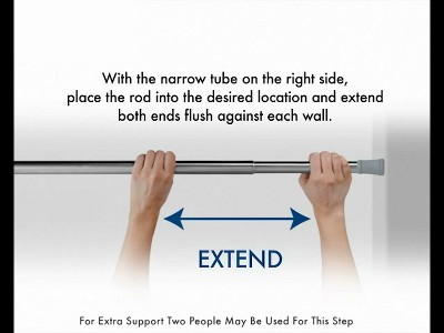 """Amazon. Com: room essentials strong 1"""" double rod converter curtain."""