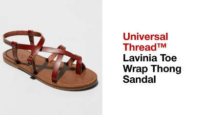 7d47451164a Play Lavinia Toe Wrap Thong Sandal - Universal Thread™ - video 1 of 2. + 2  more