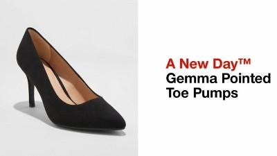 d3a1f893e Women s Gemma Wide Width Pointed Toe Pumps - A New Day™ Black   Target