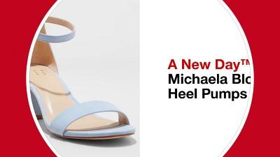 cc8599df32b Women s Michaela Satin Wide Width Mid Block Heel - A New Day ...