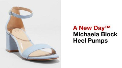 05d1c28847a Women s Micahela Satin Mid Block Heel Pump Sandal - A New Day™   Target