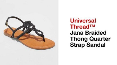 32d08fd3a Women s Jana Braided Thong Ankle Strap Sandal - Universal Thread ...